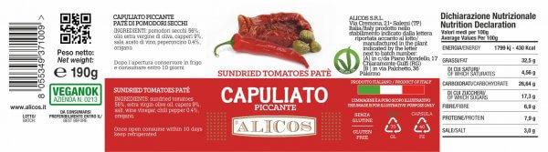 Alicos Prodotti Tipici Siciliani capuliato piccante 190g curve rev.130721