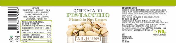 Alicos Prodotti Tipici Siciliani crema pistacchio 190g rev.03.2021