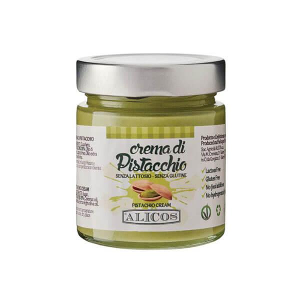 crema al pistacchio senza lattosio