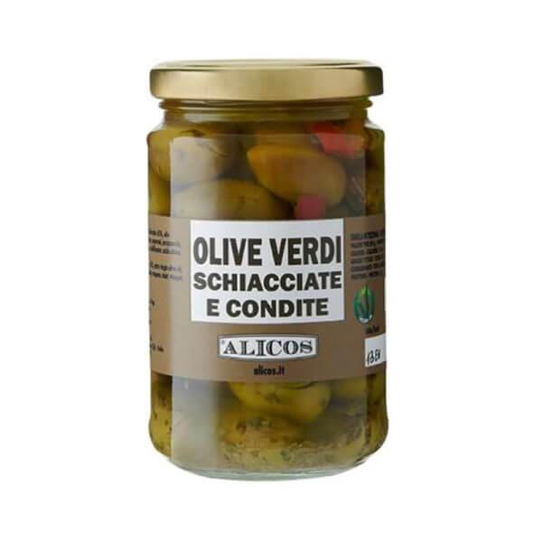 Alicos Prodotti Tipici Siciliani olive verdi schiacciate