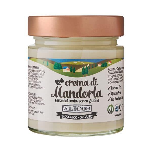 crema di mandorle bio senza glutine senza lattosio senza olio di palma Alicos